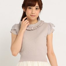 LIZ LISA Sleeveless Knit Top w/ Pearls