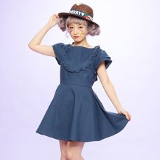 Swankiss Frilly Denim Dress