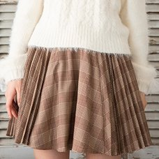 LIZ LISA Pleated Checkered Sukapan Skirt
