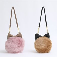 Honey Salon Ribbon Fur Shoulder Bag