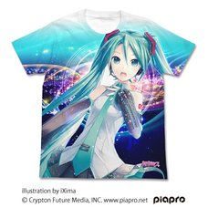 Hatsune Miku V3 2.0 Ver. Full Graphic White T-Shirt