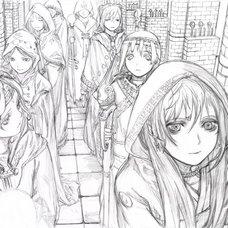 Yoshitoshi ABe 20th Anniversary Signed Premium Art Print - Ritual Corridor