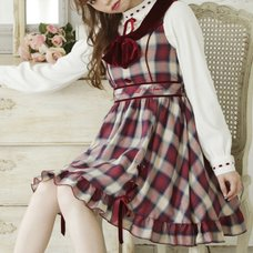 LIZ LISA Hem String Checkered Dress