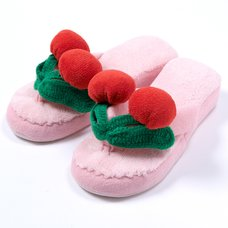 YUMMY MART Pink Cherry Room Slippers