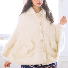 LIZ LISA Collared Ribbon Poncho