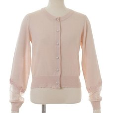 LIZ LISA See-Through Embroidered Cardigan