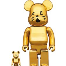 BE@RBRICK Nya- Gold Plated Ver. 100% & 400% Set