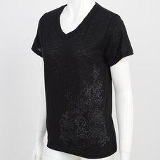 Ozz Croce Arabesque x Rose Print T-Shirt