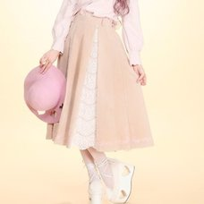 Swankiss Frame Embroidered Long Skirts