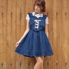 Ank Rouge Front Spindle Heart Apron Dress