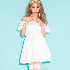 Swankiss Pastel Fringe Dress