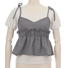 LIZ LISA Checkered Camisole w/ T-Shirt