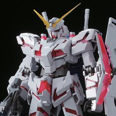 Master Grade MS Gundam Unicorn RE:0096 Unicorn Gundam Red/Green Frame Ver. Titanium Finish
