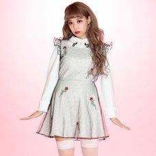 Swankiss Rose & Heart Leopard Print Dress