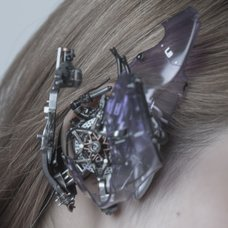 Purple Cyberpunk Headphones