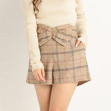 LIZ LISA Big Ribbon Plaid Shorts