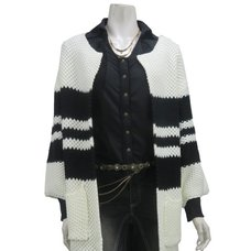 Rozen Kavalier Striped Long Cardigan