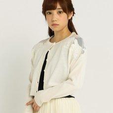 LIZ LISA Embroidered Shoulder Cardigan