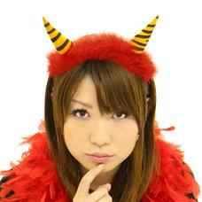 Fluffy Red Demon Horn Headband