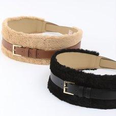 Honey Salon Fake Fur Belt