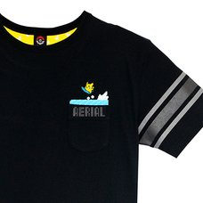 Surfing Pikachu T-Shirt (Black)
