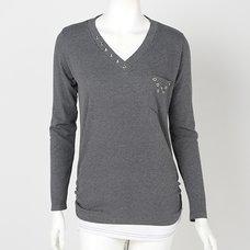 Ozz Croce Layered-style Studded T-Shirt