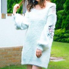 LIZ LISA Embroidered Sleeve Knit Dress
