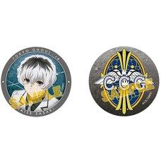 Tokyo Ghoul:re Haise Sasaki & CCG Emblem Charaby Badge Set