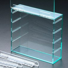 Acrylic Earring Display Case  Clear Blue