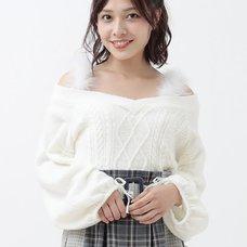 LIZ LISA Feather Strap Knit Top