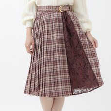 LIZ LISA Checkered Pleated Skirt
