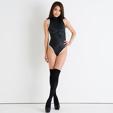 REALISE Front Zipper Competitive Swimwear Costume SSW (Black x White)