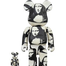 BE@RBRICK Andy Warhol Double Mona Lisa 100% & 400% Set