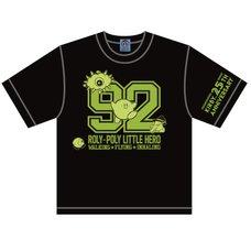 The King of Games Kirby 25th Anniversary Numbering Black Kids' T-Shirt w/ Plush Mascot