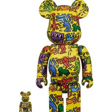 BE@RBRICK Keith Haring #5 100% & 400% Set