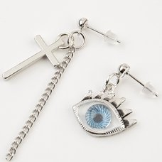 Eyeball & Cross Earrings