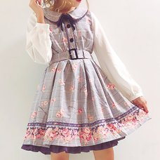 LIZ LISA Glen Check Rose Dress