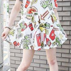 ACDC RAG Burger Flared Skirt