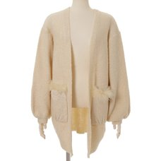 LIZ LISA Pocket Fur Knit Cardigan