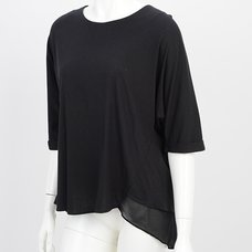 Ozz Oneste Feather Print Round Neck T-Shirt