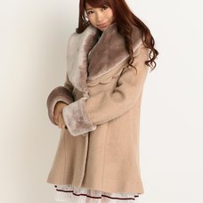 LIZ LISA x Yui Kanno Faux Fur Collar & Cuffs Coat