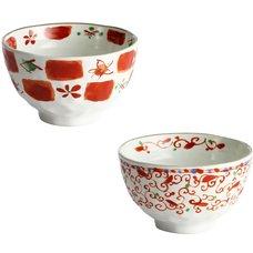 Akae Goyo Mino Ware Bowls