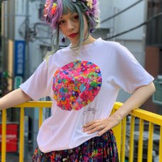 6%DOKIDOKI Colorful Rebellion/Gravity White T-Shirt