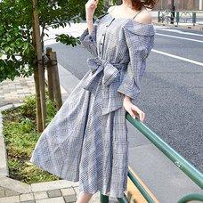 LIZ LISA Collarless Checkered Dress