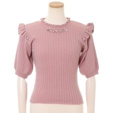 LIZ LISA Rib Knit Top
