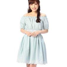 LIZ LISA Denim Off-the-Shoulder Dress w/ Official LIZ LISA Shop Bag