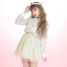 Swankiss Polka Dot Tulle Rose Dress