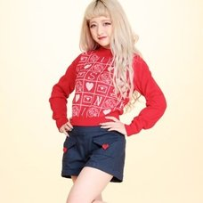 Swankiss Memory Jacquard Knit Sweater