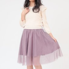 LIZ LISA Knit Docking Tulle Dress