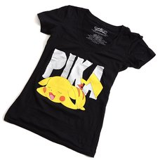 Pikachu Juniors' Yellow V-Neck T-Shirt | Pokémon